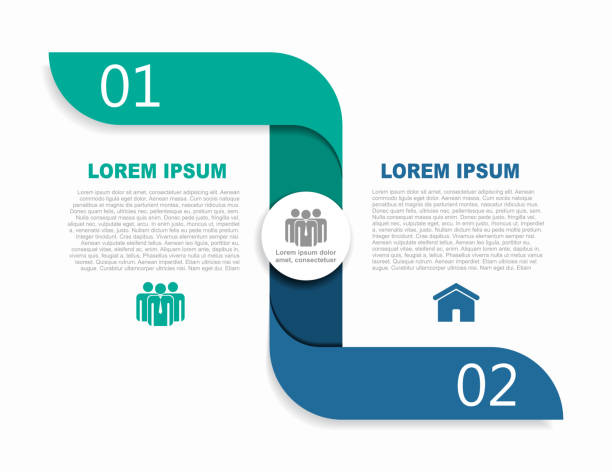 infographic design template with place for your data. vector illustration. - dwa przedmioty stock illustrations