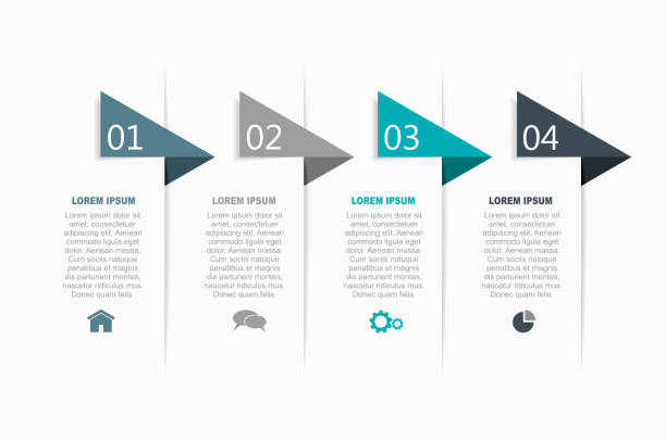 Infographic design template with place for your data. Vector illustration. Infographic design template with place for your text. Vector illustration. number 4 stock illustrations