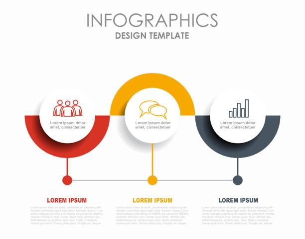 stockillustraties, clipart, cartoons en iconen met infographic ontwerpsjabloon met plaats voor uw gegevens. vector illustratie. - infographic