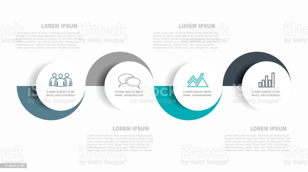 Infographic design template with place for your data. Vector illustration. - Grafika wektorowa royalty-free (Abstrakcja)