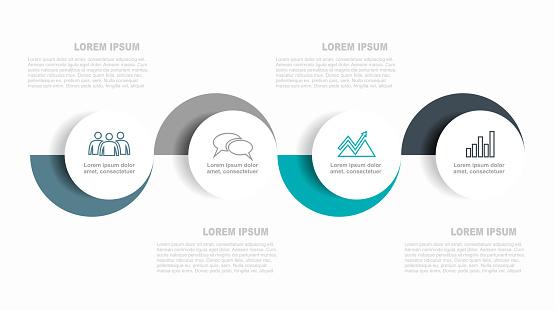 Infographic Design Template With Place For Your Data Vector Illustration - Stockowe grafiki wektorowe i więcej obrazów Abstrakcja