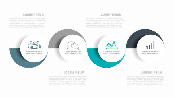 infographic design template with place for your data. vector illustration. - postęp stock illustrations