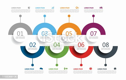 istock Infographic design template with place for your data. Vector illustration. 1153368130
