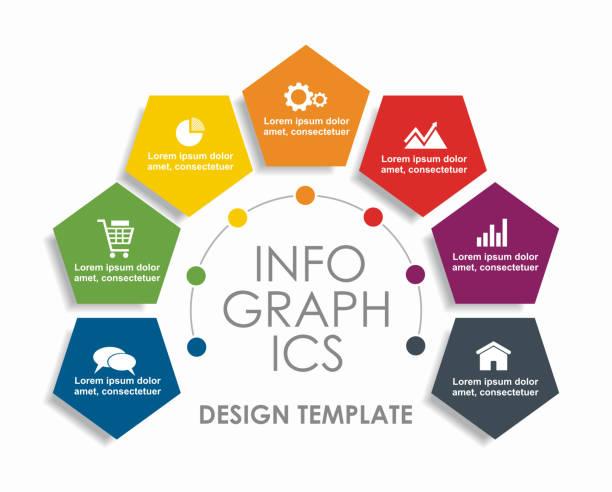 infographische designvorlage mit platz für ihre daten. vector illustration. - treppe stock-grafiken, -clipart, -cartoons und -symbole