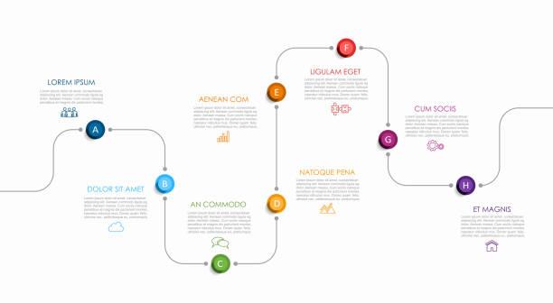 illustrations, cliparts, dessins animés et icônes de modèle de conception infographique avec place pour vos données. illustration de vecteur. - timeline