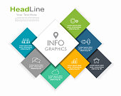 istock Infographic design template with place for your data. Vector illustration. 1240223810