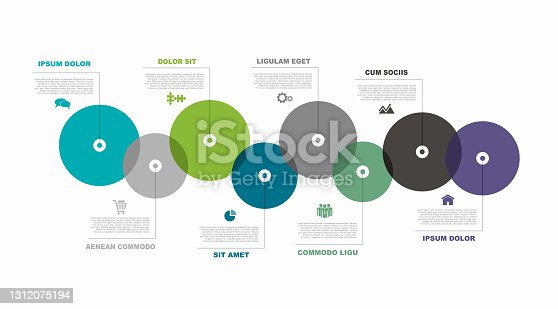 istock Infographic design template with place for your data. Vector illustration. 1312075194
