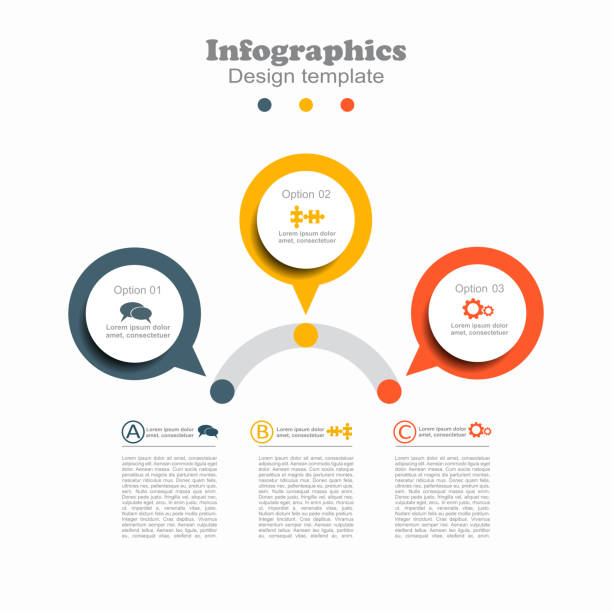 infographic design template with place for your data. vector. - part of a series stock illustrations, clip art, cartoons, & icons
