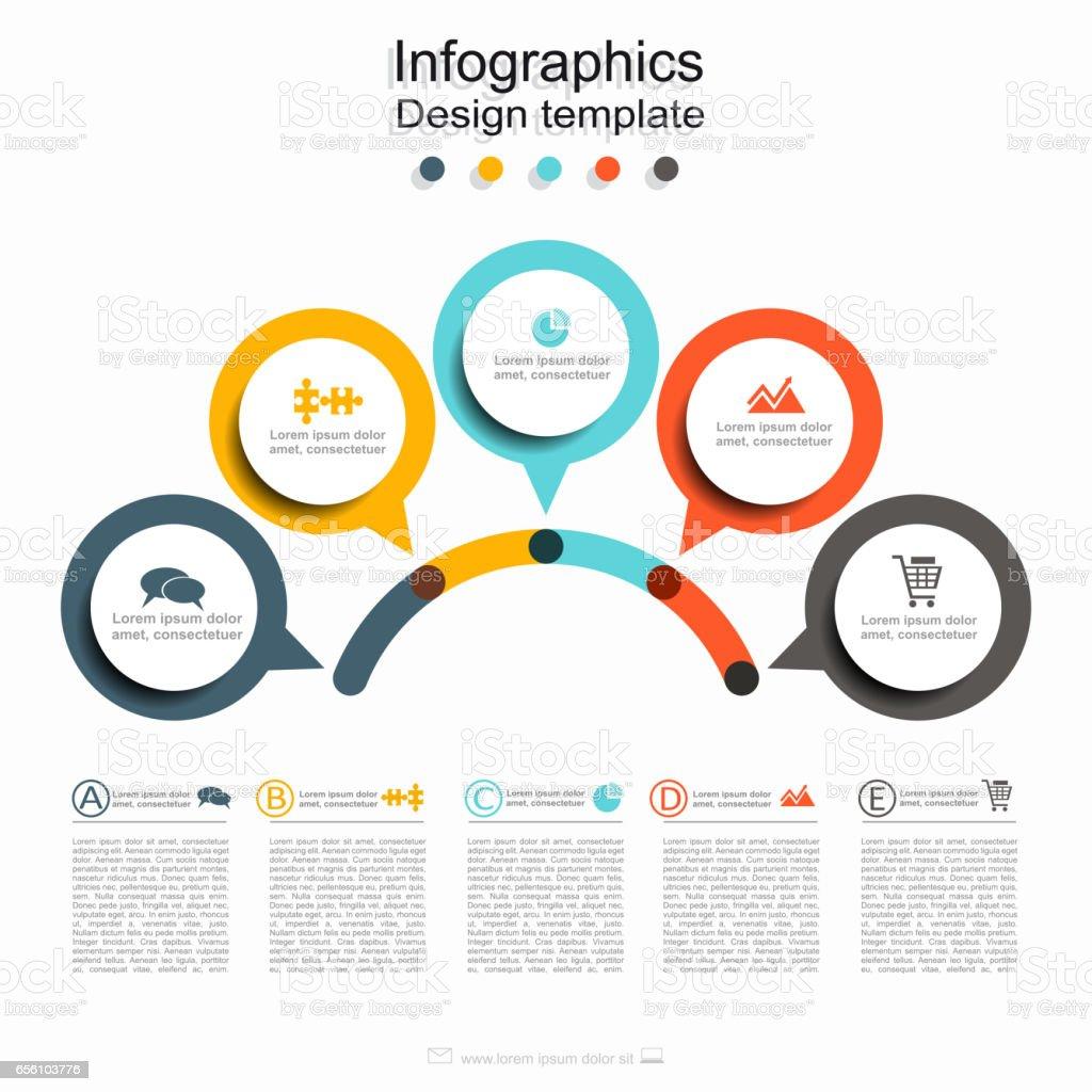 Plantilla de diseño de infografía con el lugar para sus datos. Vector. - ilustración de arte vectorial