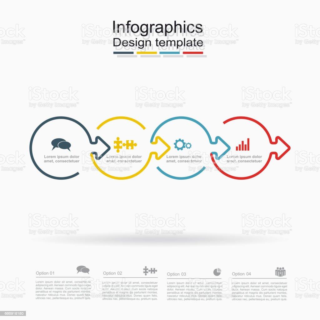 Ilustración de Plantilla De Diseño De Infografía Con El Lugar Para ...