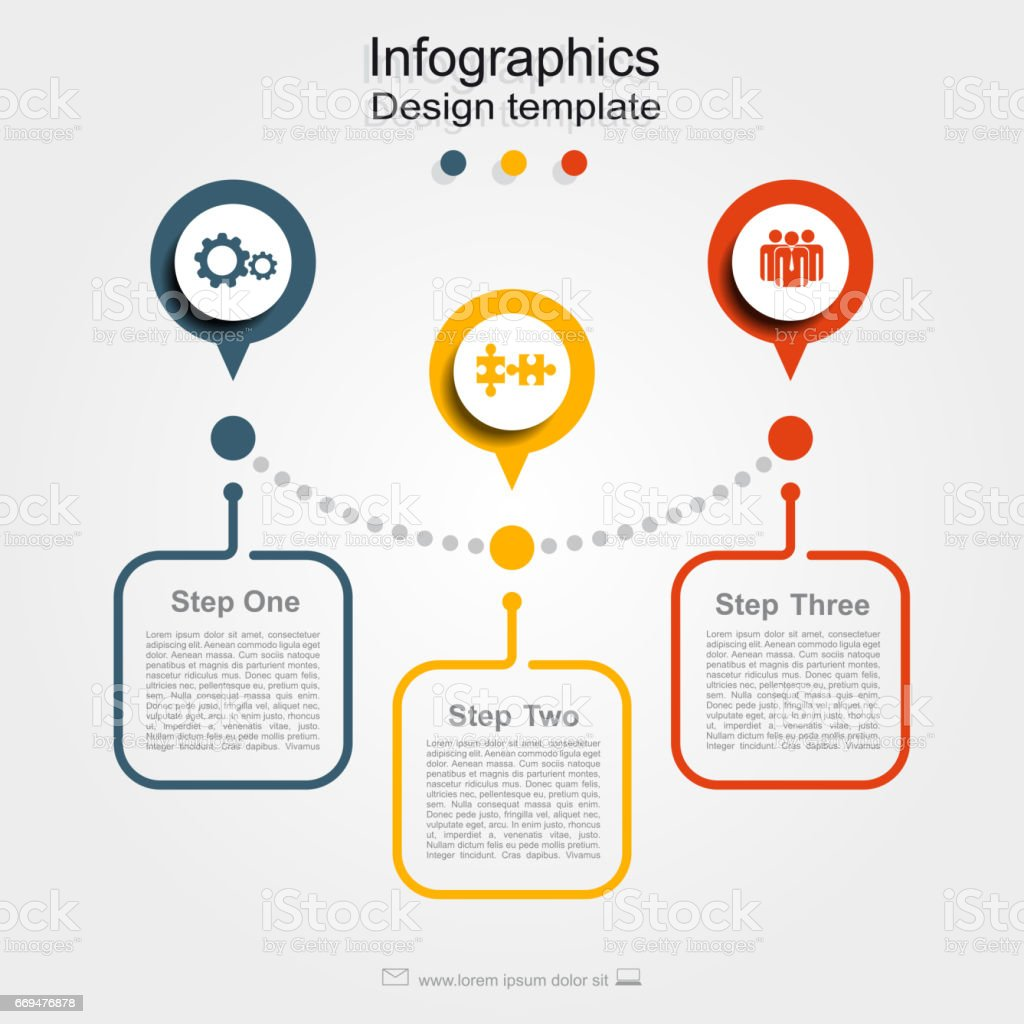 Infographic design template with place for your data. Vector. vector art illustration