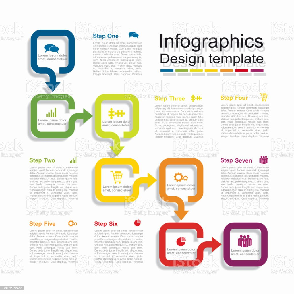 Infographic design template with place for your data. Vector illustration. vector art illustration