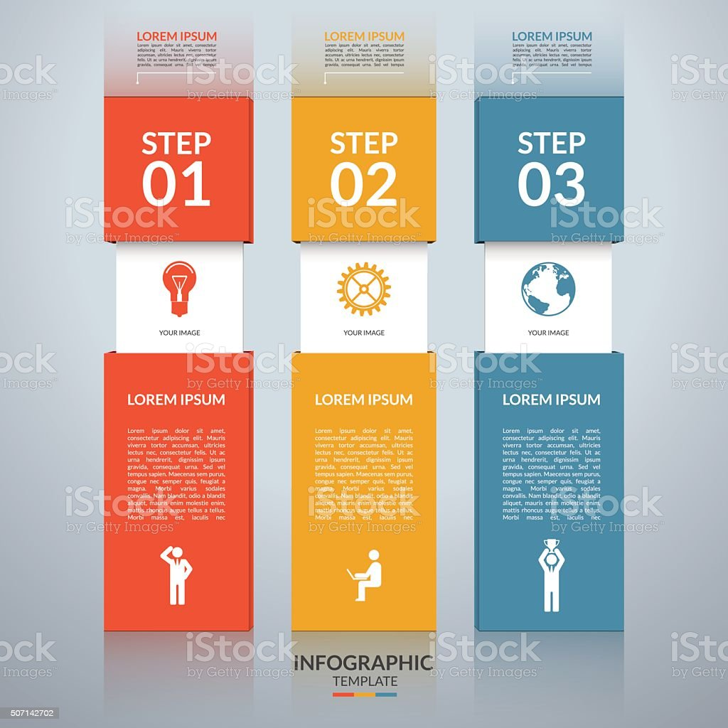 Infographic Design Template With The Set Of Marketing Icons Stock ...