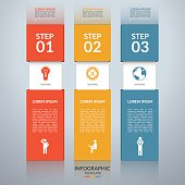 Infographic design template with the set of marketing icons