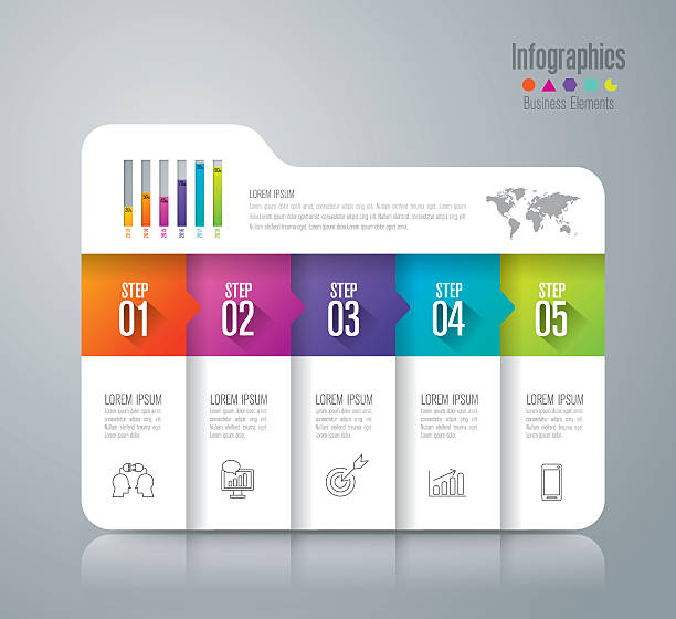 infographic design vector and business icons. - infographics stock illustrations, clip art, cartoons, & icons
