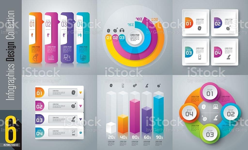 인포그래픽 디자인식 벡터 및 비즈니스 아이콘. 벡터 아트 일러스트