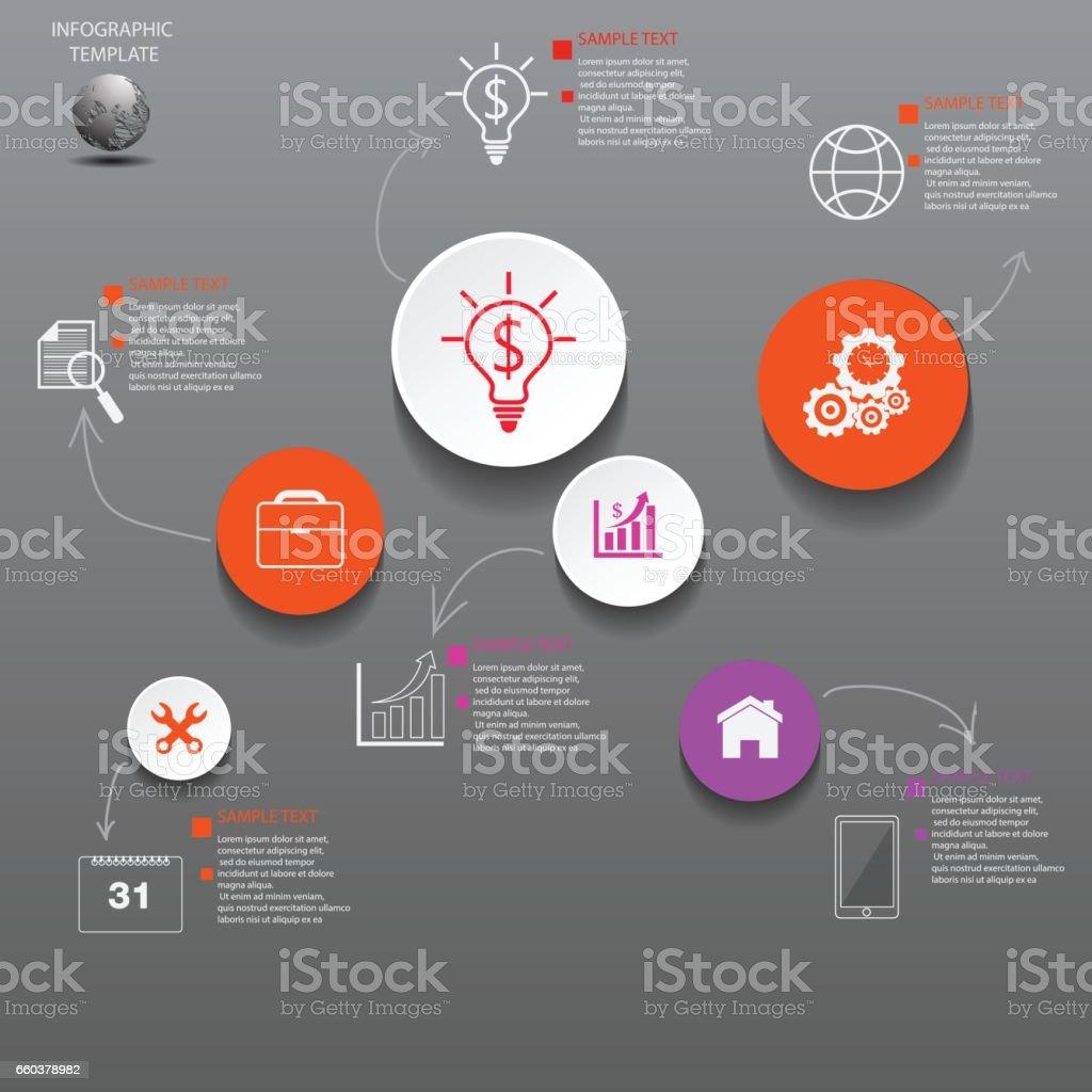 Ilustración de Vector De Diseño De Infografía Y Los Iconos Marketing ...