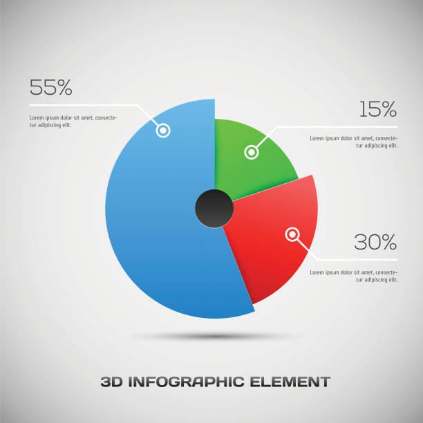 infographic design - pie chart stock illustrations, clip art, cartoons, & icons