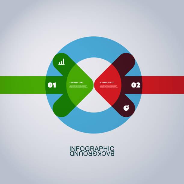 infographic design - dwa przedmioty stock illustrations