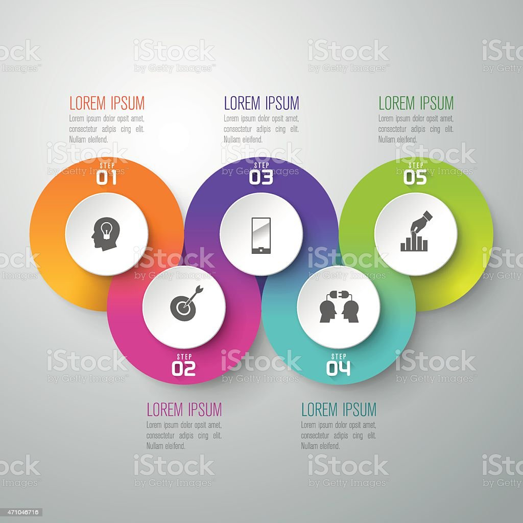 Infographic design vector. vector art illustration