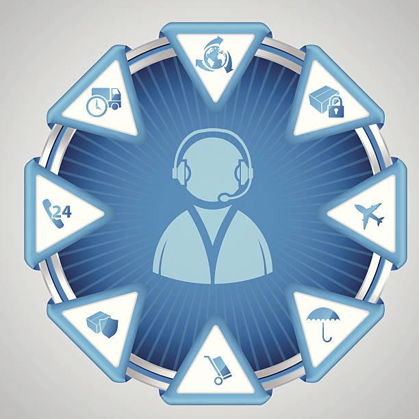 ilustraciones, imágenes clip art, dibujos animados e iconos de stock de infografía diseño con símbolo del centro de atención telefónica - suministros escolares