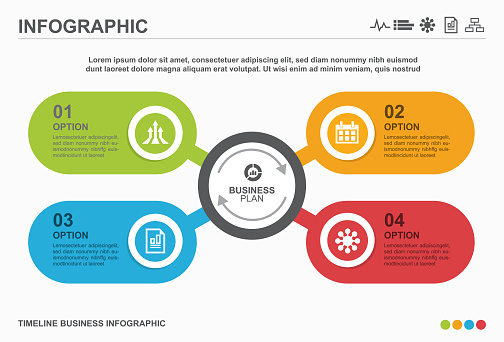 Infographic design with icons and 4 options or steps