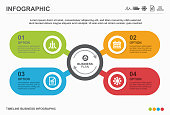 Infographic design with icons and 4 options or steps. Vector design