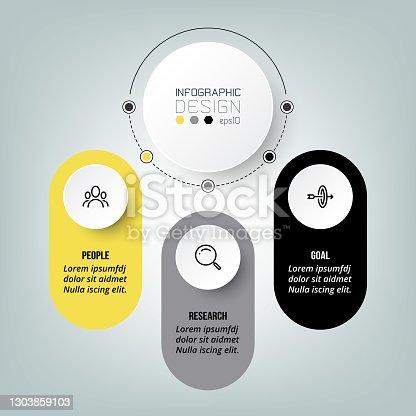 istock Infographic diagram business template design. 1303859103