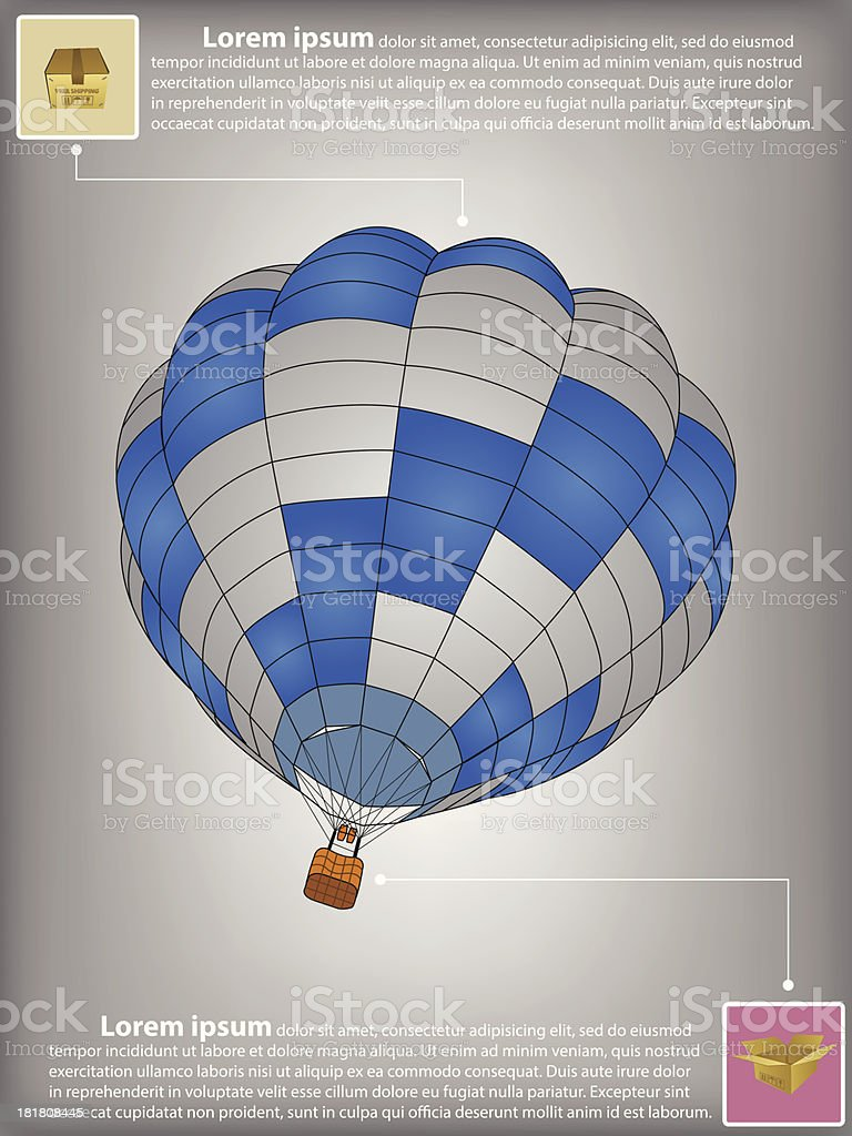 Infographic Diagram of Hot Air Balloon Vector. royalty-free infographic diagram of hot air balloon vector stock vector art & more images of cargo container