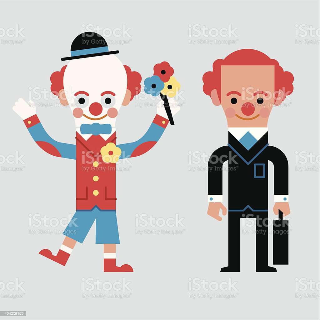InfoGraphic Don't be a Clown vector art illustration