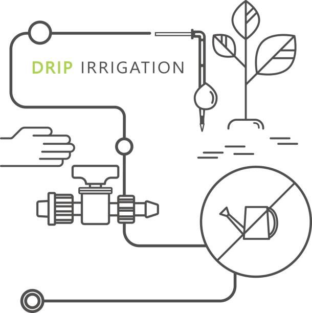 Royalty Free Irrigation Equipment Clip Art Vector Images