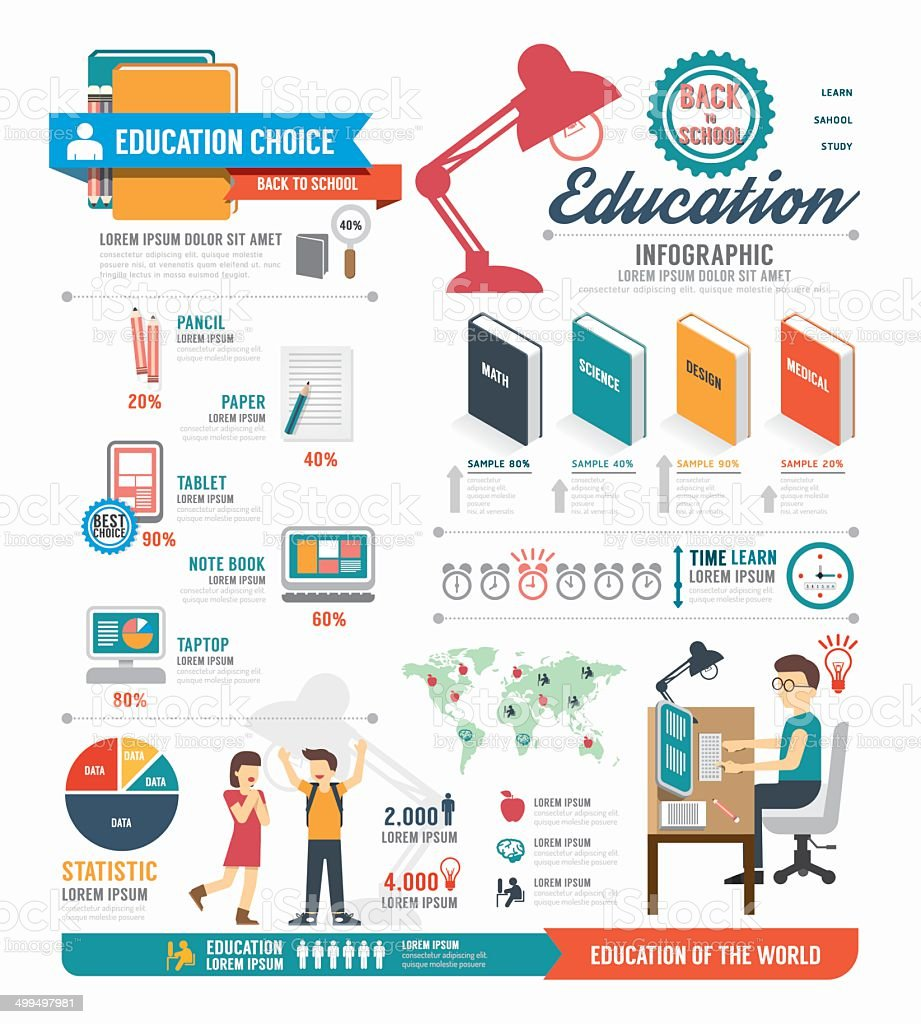 Infographic education template design . concept vector vector art illustration
