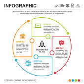 infographic, icon, business, data, template