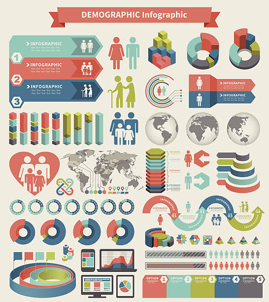 infographic element - demographics infographics stock illustrations, clip art, cartoons, & icons