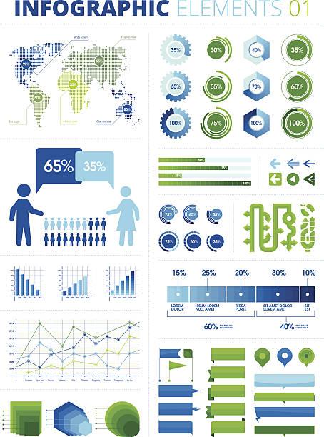 ilustraciones, imágenes clip art, dibujos animados e iconos de stock de infografía elementos 01 - infografías demográficas