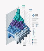 A 3D graph illustration. EPS 10 file, with transparencies, layered & grouped,