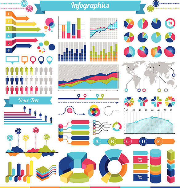 infografik-elemente und design - messlatte stock-grafiken, -clipart, -cartoons und -symbole