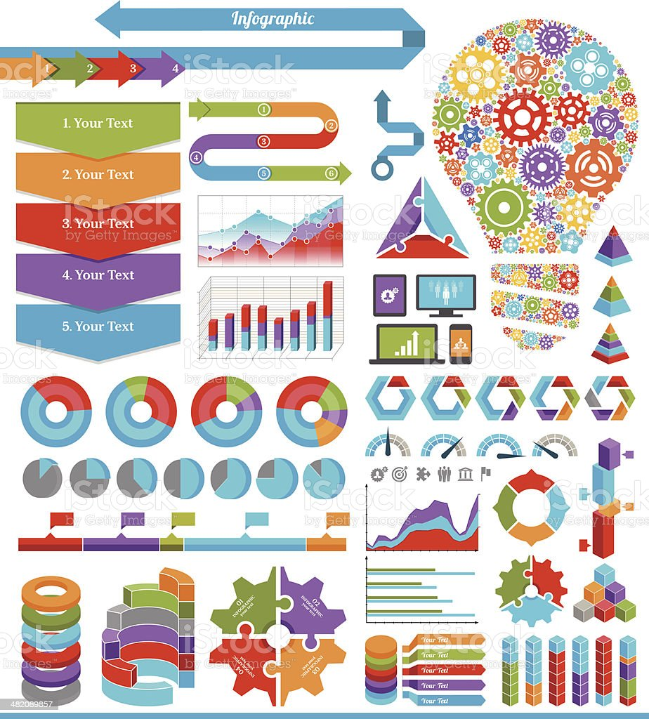 Infographic Elements and Design vector art illustration