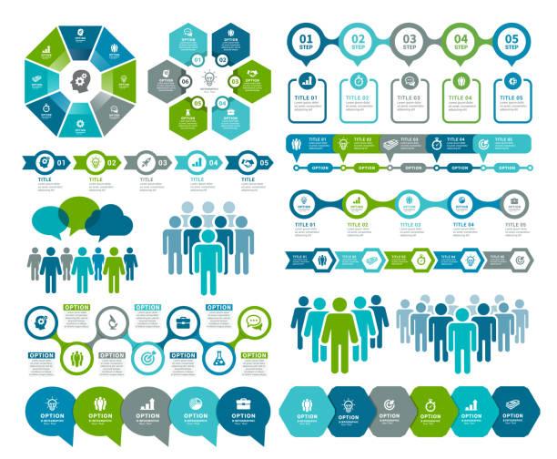Infographic Elements and Timeline elements vector art illustration