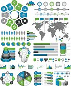 Vector illustrations of the infographic elements.