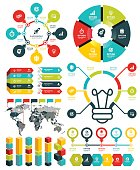 Vector illustration of the infographic elements.
