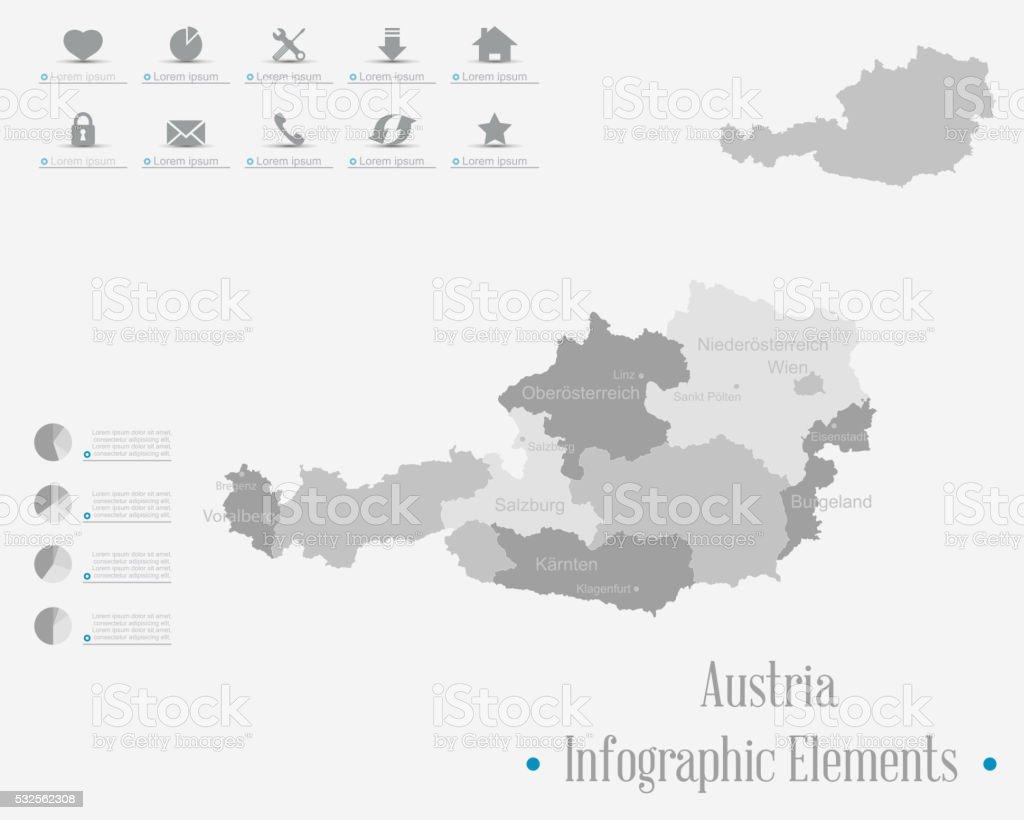 Infographic Elements - Austria  Theme vector art illustration