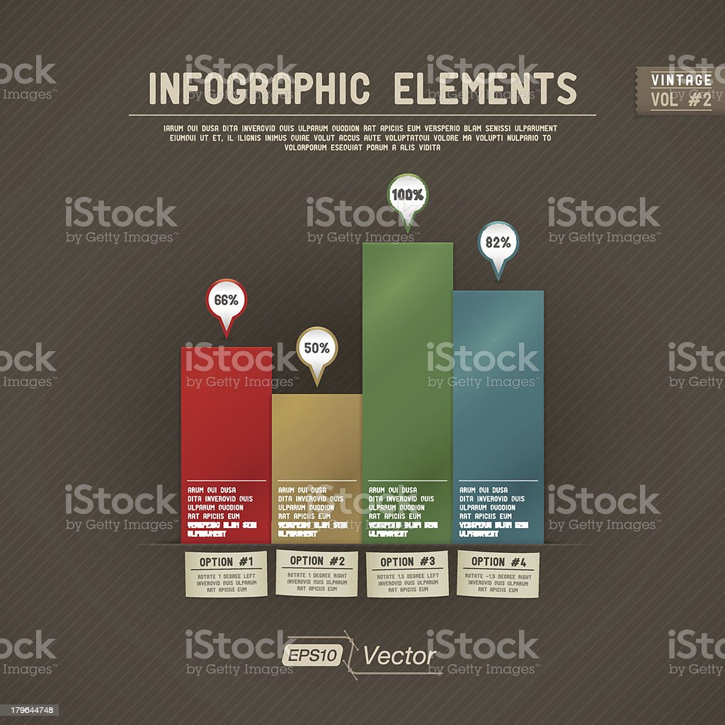 Infographic Elements: Bar Graph - Vintage royalty-free stock vector art