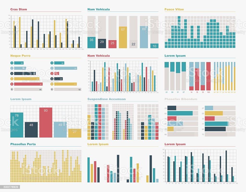Infographic elements big set vector art illustration