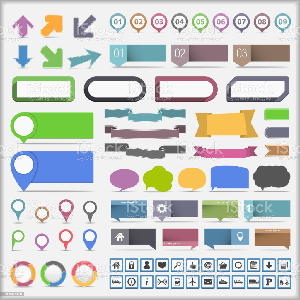 Infographic Elements Collection vector art illustration