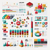 A set of modern infographic elements. EPS 10 file, with transparencies, layered & grouped,