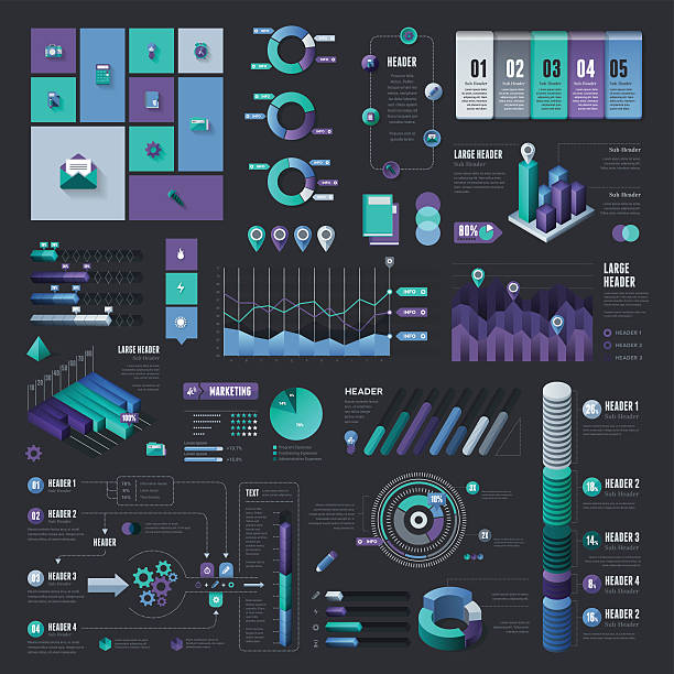 Infographic Elements - Complete Set vector art illustration