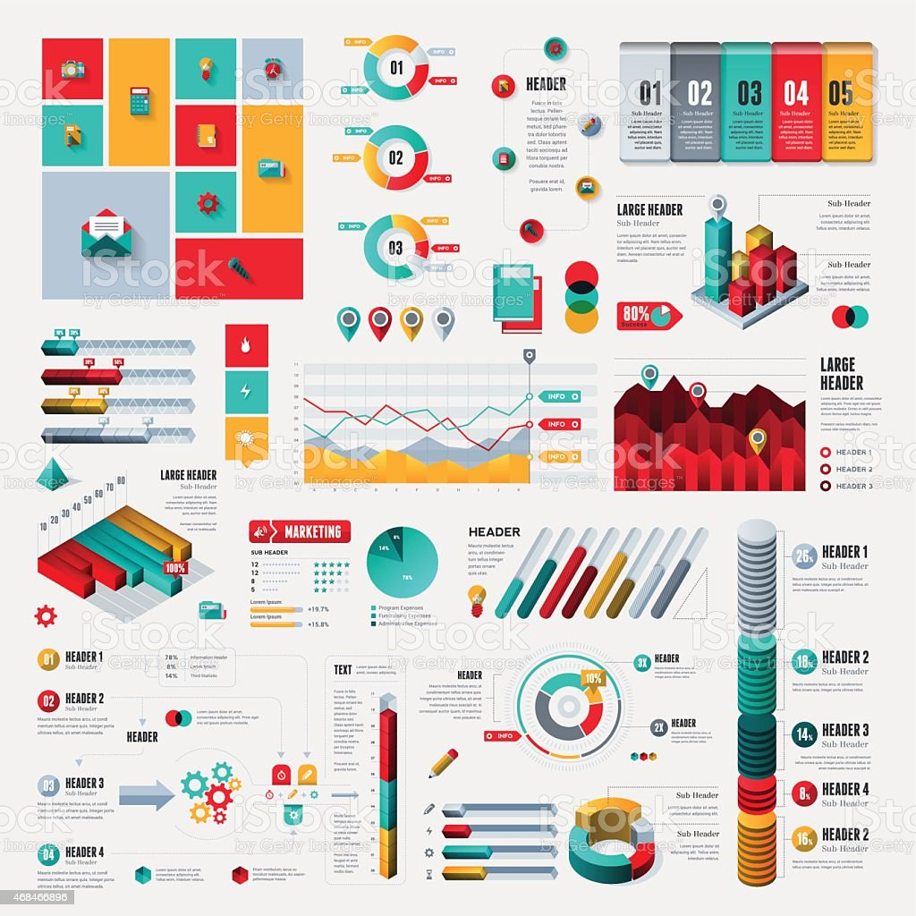 Infographic Elements - Complete Set vector art illustration