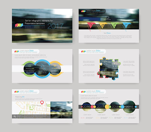 infographic elements for presentation templates. - infographic templates stock illustrations, clip art, cartoons, & icons
