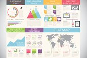 Infographic elements in modern fashion: flat style